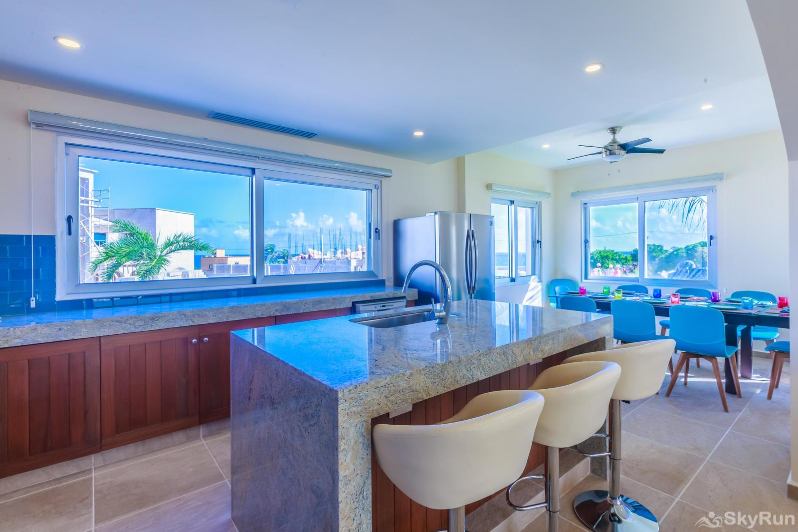 NEW and Unique Residencial Home Prime Location Isla Mujeres Fully Equipped Kitchen