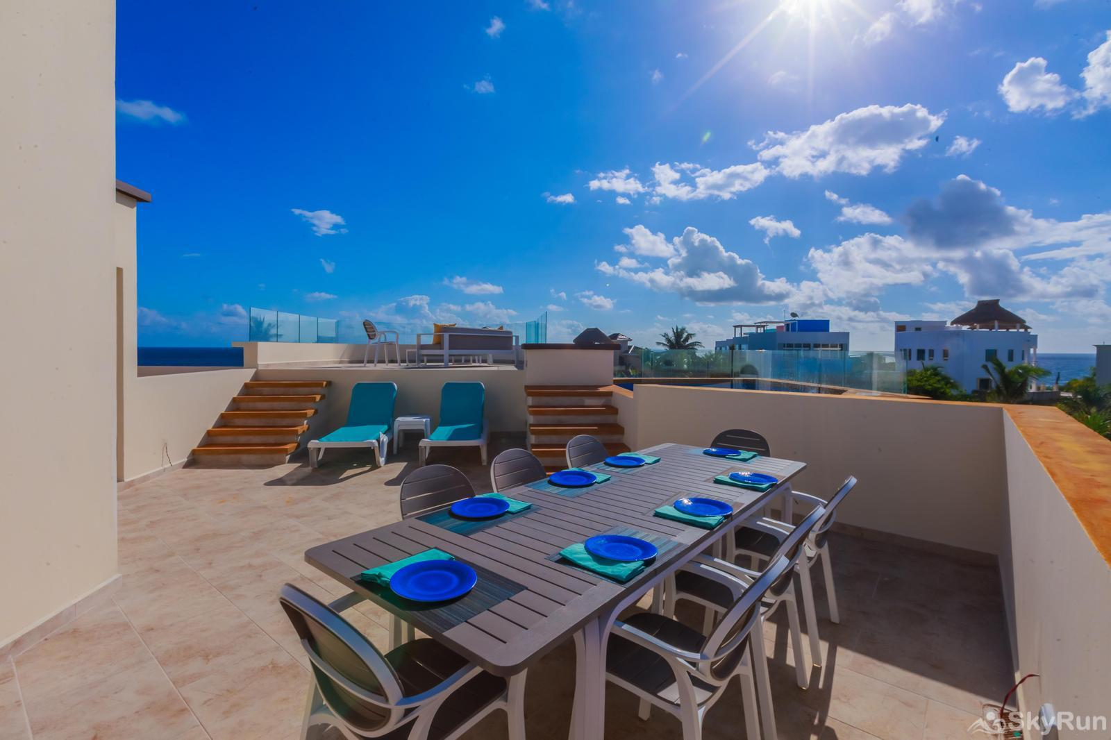 NEW and Unique Residencial Home Prime Location Isla Mujeres Alfresco Dining